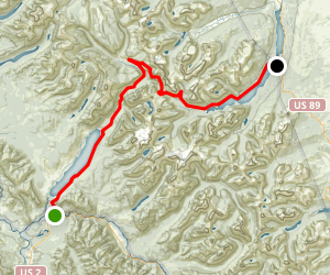 Going-to-the-Sun Road - West Glacier to Saint Mary Scenic Drive Map