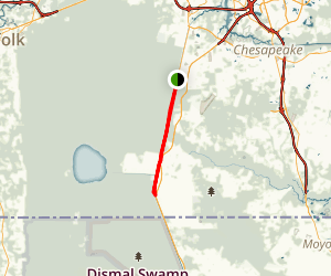 Dismal Swamp Canal Trail Map