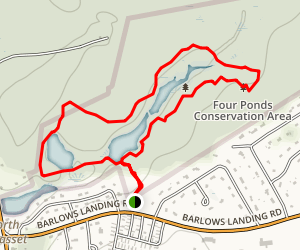Four Ponds Conservation Area - Town Forest Tour Trail Map
