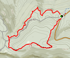 North Rim Trail, Mount Magazine State Park Map