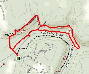 Bear Creek Outcropping Trail Map