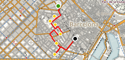 El Raval Cultural Walking Tour Map