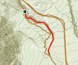 Lower Rock Creek Canyon Trail Map