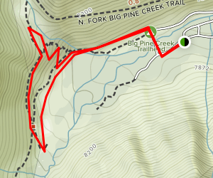 Big Pine Creek Campground and Glacier Lodge Loop Map