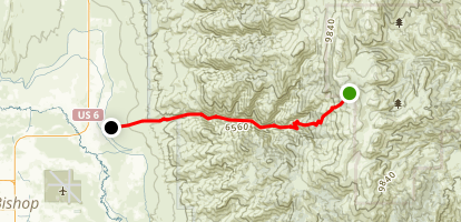 Silver Canyon Trail Map