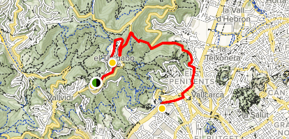 Mount Tibidabo Family Friendly Walking Tour Map