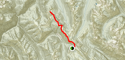 Windy Pass via the PCT Map