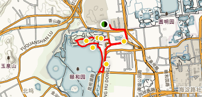 The Summer Palace and Kunming Lake Trail Map