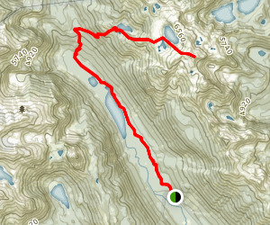 Tuck and Robin Lakes Map
