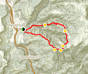 Circular Route Aiguafreda Map