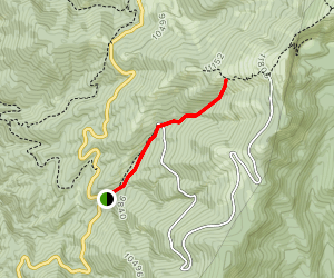 Tesuque Creek North Fork Trail Map