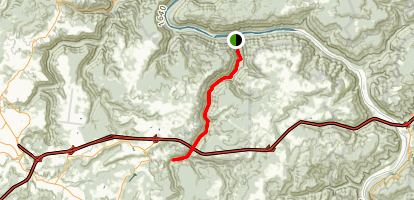 Glade Creek: New River to Pinch Creek Map