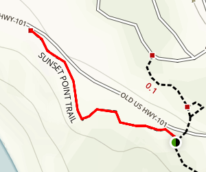 Sunset Point Trail Map