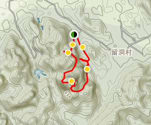 Heyuan Yewang Shan Sightseeing Trail Map