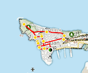 Old San Juan Walking Tour Map