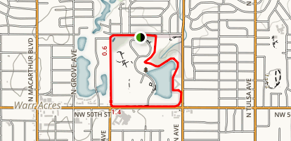 Dolese Youth Park Trail Loop Map