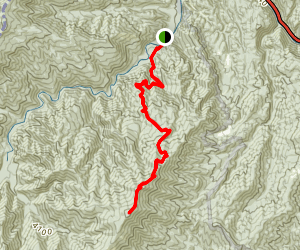 Baxter Creek Trail to Mt. Sterling Map