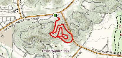 Edwin Warner Loop Map