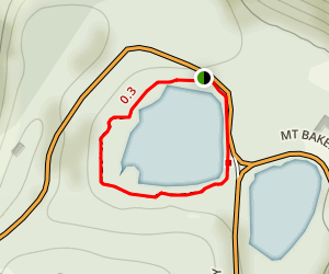 Picture Lake Path Map