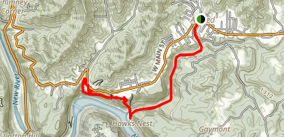Hawks Nest  Map