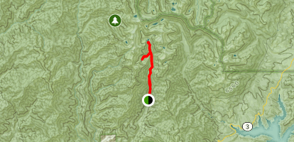 Canyon Creek and Boulder Creek Lakes Map