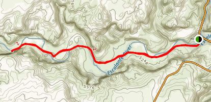 Escalante Natural Bridge Map