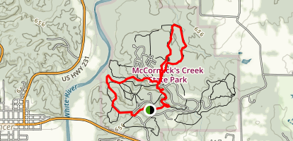 Falls Canyon Trail Map