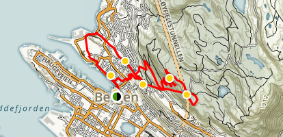 Bergen Walking Tour Map