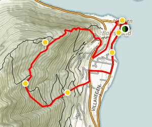 Balestrand Forest Hike Map