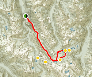 Lakes Basin via East Fork Lostine Trail Map