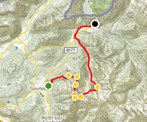 King's Trail Seefeld to Scharnitz Map