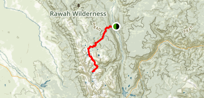 Twin Crater Lakes via Rawah Trail Map