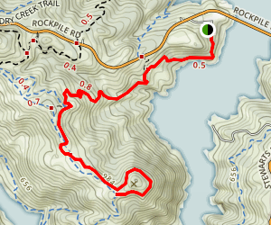 Little Flat to Bummer Peak  Map