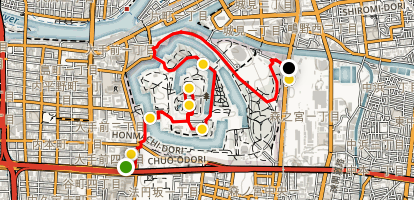 Osaka Castle Walking Tour Map