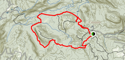 Panthertown Valley Outer Loop Map