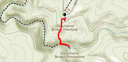 Owachomo Bridge Trail Map