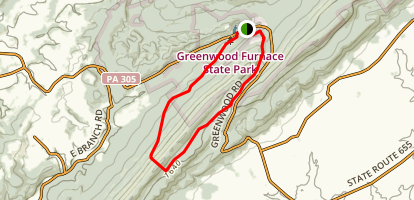 Greenwood Furnace State Park Loop Map