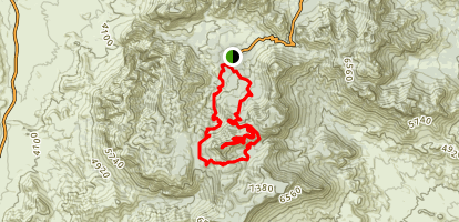 Emory Peak Loop via Pinacles & Laguna Meadow Map