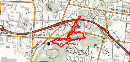 Sharon Woods Loop Trail Map