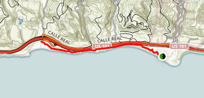 Aniso Trail from El Capitan State Beach to Refugio State Beach Map