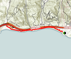 Aniso Trail from El Capitan State Beach to Refugio State Beach [CLOSED] Map