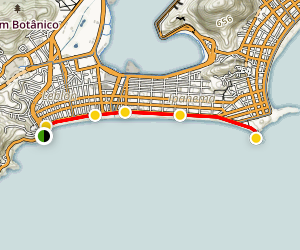 Ipanema Beach and Pedra de Arpoador Map