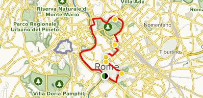 Rome Family Friendly Walking Tour Map