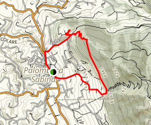 Palombara Sabina To Monte Gennaro Loop Map