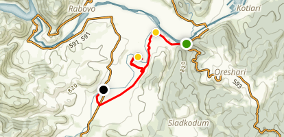 Off-road from Arda to Potocharka Map