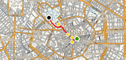Milan Architecture Walking Tour Map