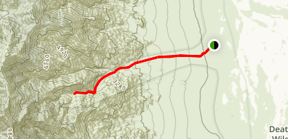 Hanaupah Canyon Trail Map