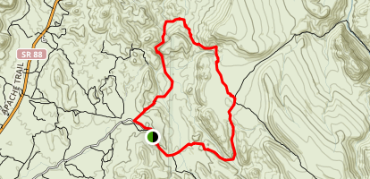 Second Water and Garden Valley Loop Map