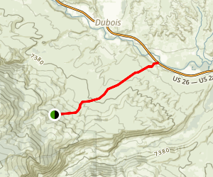 Jakeys Fork Trail Map