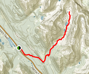 Headwall Lakes Trail Map